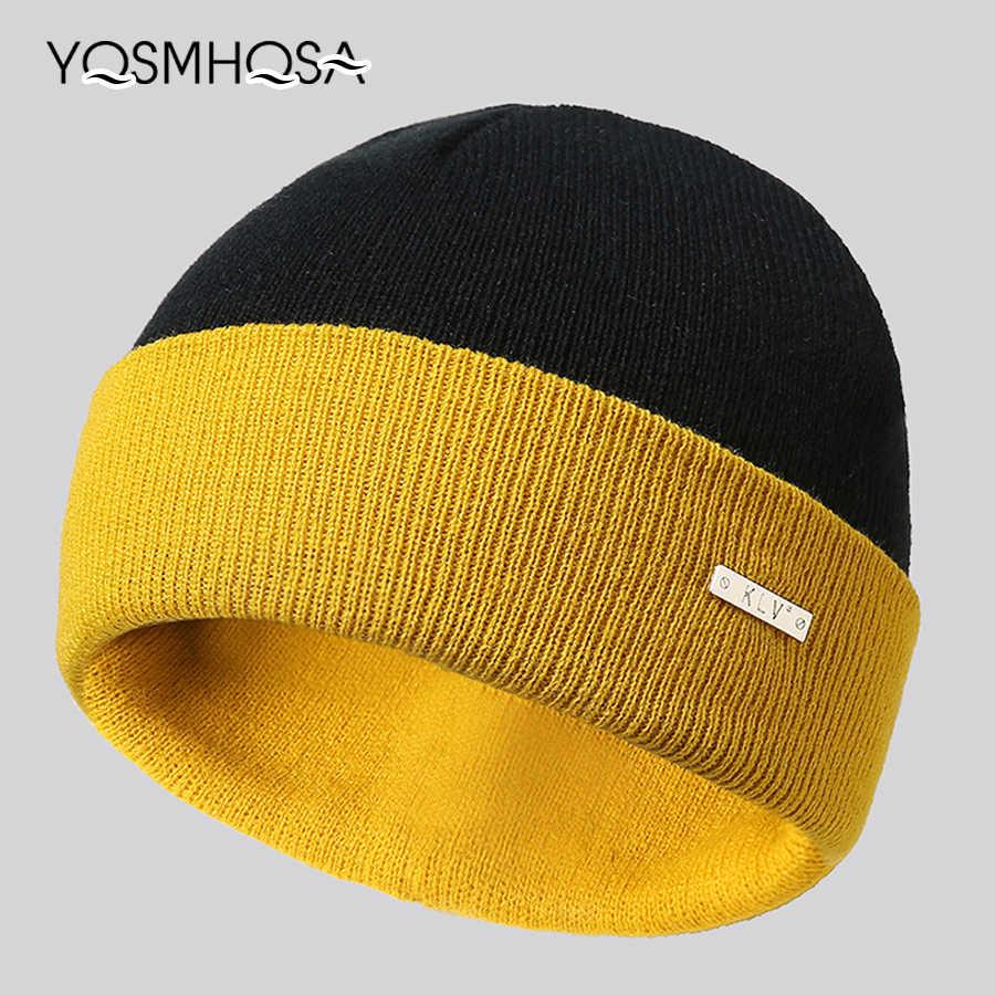 dd477e5105d0d Fashion Warm Knitted Autumn Winter Beanie Hats for Women Bonnet Wool  Skullies Beanies for Men Hat