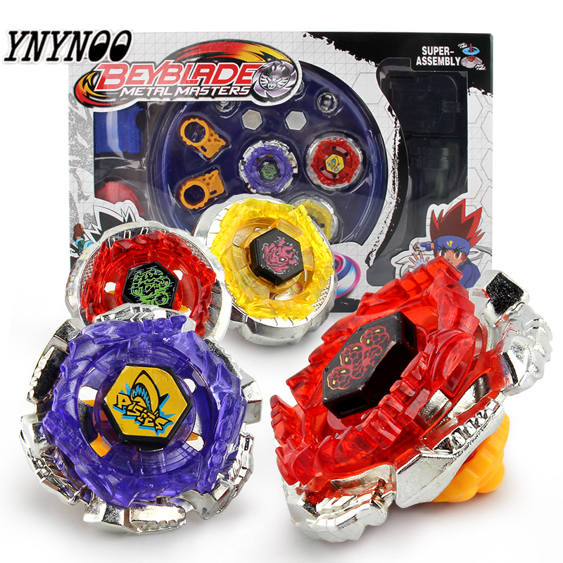 YNYNOO 4pcs/set Original Package Beyblade Metal Fusion 4D Launcher Beyblade Spinning Top Set Kids Game Toys Children Christmas