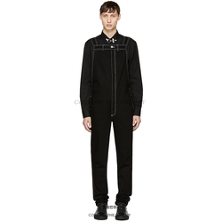 Homemade 2018 new men's casual pants suspenders.     S-6XL!!