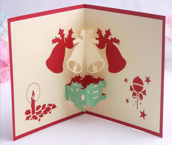 Compare prices on belle birthday card online shoppingbuy low 10pcs bells handmade kirigami origami 3d pop up greeting cards invitation postcard for birthday christmas party bookmarktalkfo Gallery