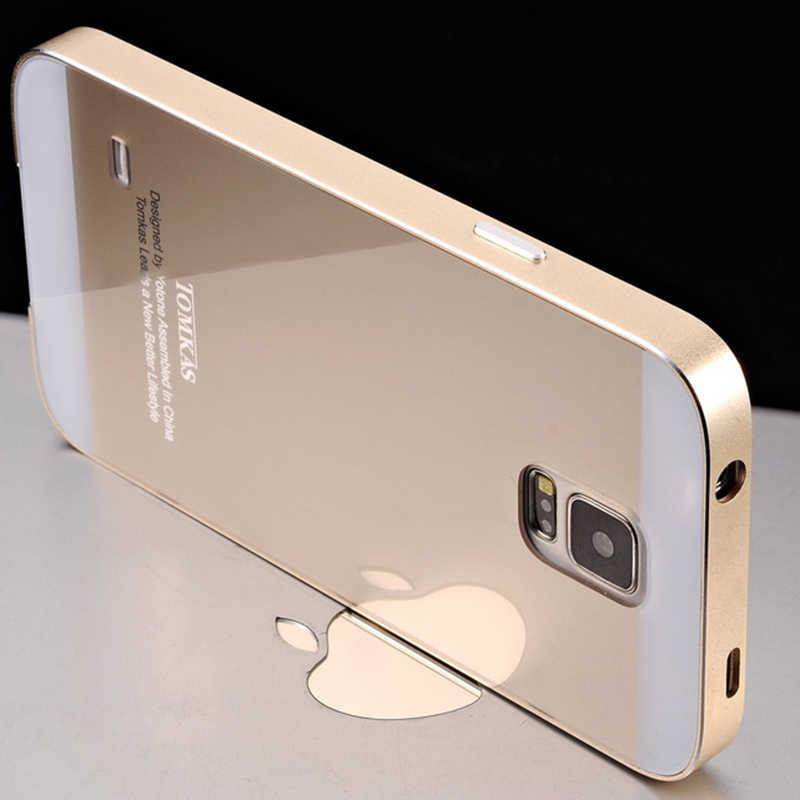 de30cd5ac4e Tomkas Brand Aluminum Case For Samsung Galaxy S5 I9600 Hrad Metal Phone Bag  Back Cover Coque