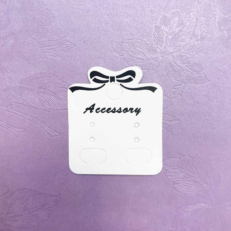 Kraft Paper Ear Studs Card Tag Marking Label /Earring/Hairpin/ Packing Cards Jewelry Displays Bag Wrapping with Hole Hang