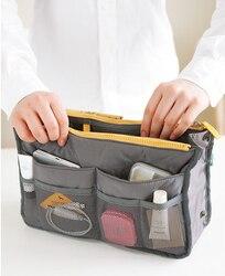 13 farbe Frauen comestic Veranstalter Tasche In Tasche Doppel-reißverschluss Tragbare Multifunktionale Reise Taschen Handtasche Make-Up Tasche