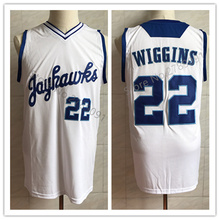 d40f67edd5dd  22 Andrew Wiggins Kansas Jayhawks College Retro Basketball Jersey Mens  Stitched Custom Any Number Name
