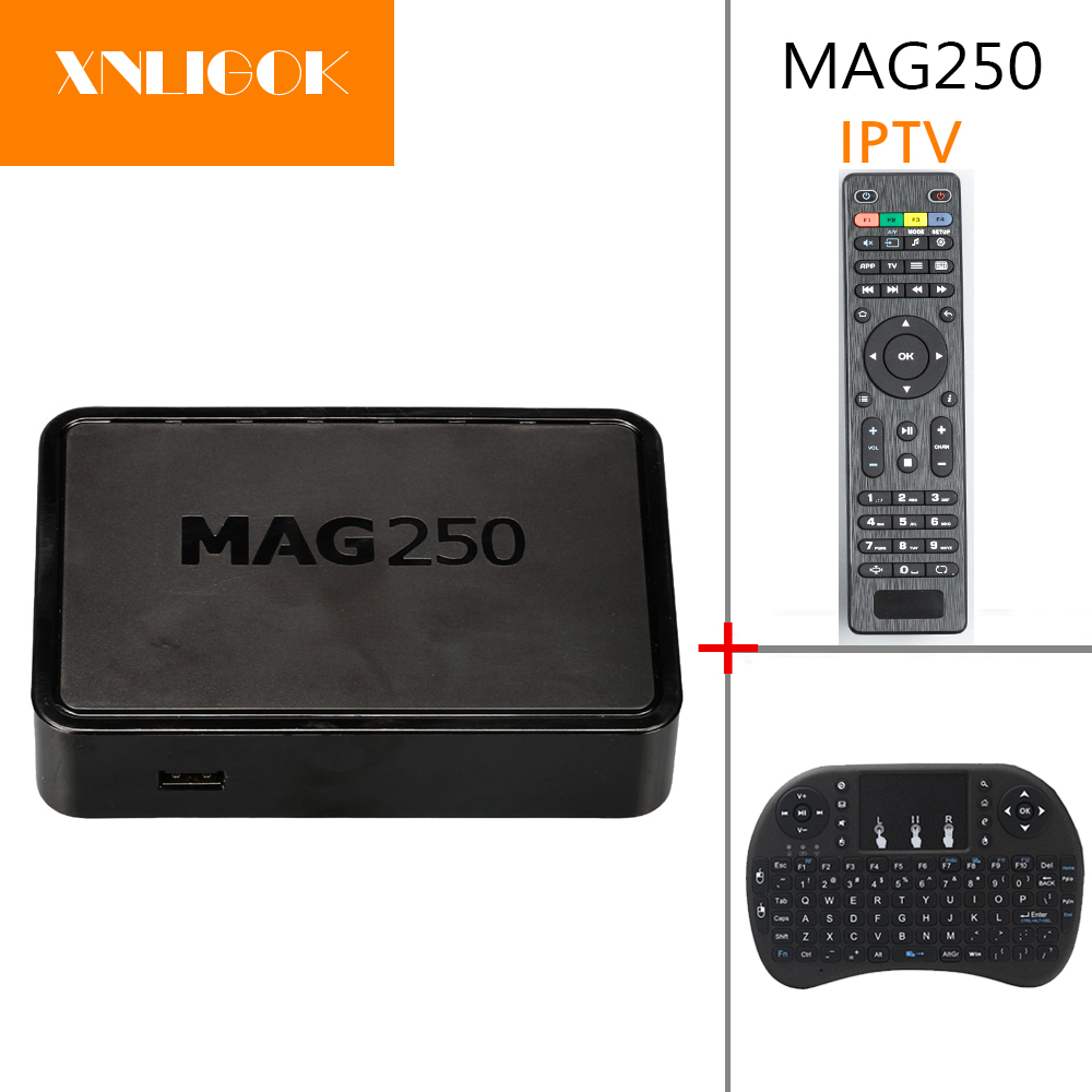 Original New Faster Processor  Linux MAG250 IPTV set top box HD Mini Pc  Support USB WIFI  android box mag250 tv box wavelets processor