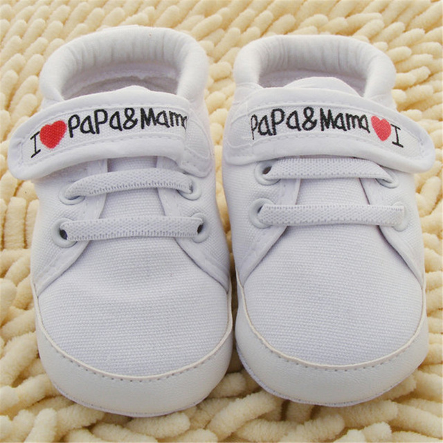 0-18M Baby Infant Kids Boy Girls Soft Sole Canvas Sneaker Toddler Newborn Shoes New 3