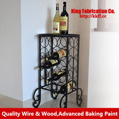 European Style Wrought Iron Wine Rack Floor Creative Gl Bar