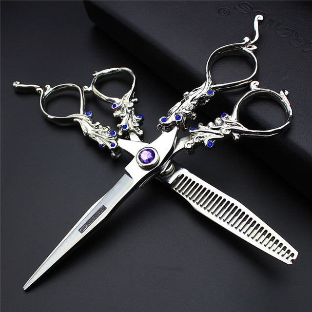 6 Inch Professional Hair Scissors Set Hairdressing Equipment Barber Supplies Cutting S For Hairdresser To