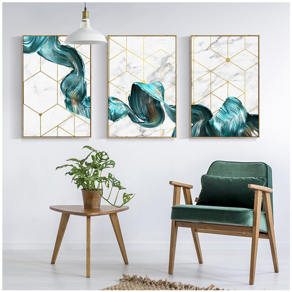Nordic-Decorative-Abstract-Marble-With-Blue-Gold-Paint-Canvas-Painting-Poster-And-Print-Picture-Wall-Art (2)
