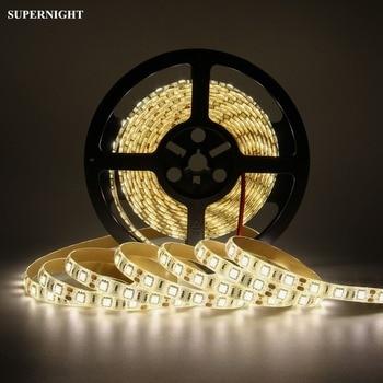 цена на SMD 5050 LED Strip Light 5M 300LEDs DC 12V Waterproof Flexible Lamp Band Tape Light Strip for Home Indoor Decoration Warm White