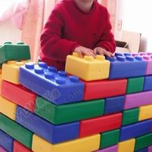 Игрушки для детских садов, пластиковые строительные блоки, игрушки Счастливые большие блоки, детские пластиковые кирпичи, 45 шт., детские домашние игрушки