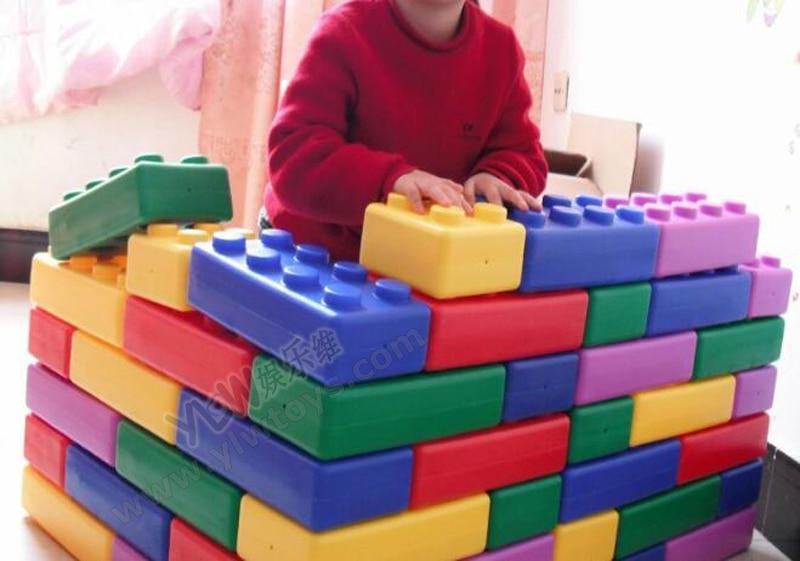 Kindergarten Playground Toys Plastic Building Blocks Toys Happy Big Blocks Children Plastic Brick 45PCS Kid Household Indoor Toy