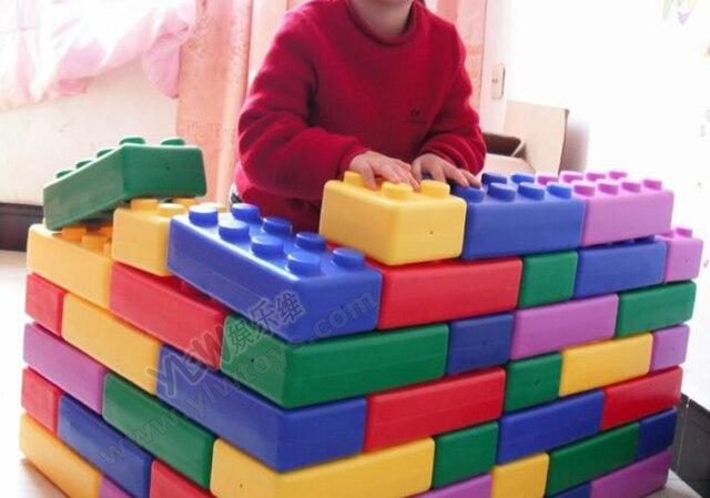 Kindergarten playground toys plastic building blocks toys for Large acrylic block