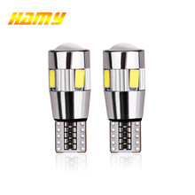 2x T10 W5W Car LED Turn Signal Bulb Canbus Auto Interior Dome Reading Light Wedge Side Parking Reverse Brake Lamp 5W5 5630 6smd(China)