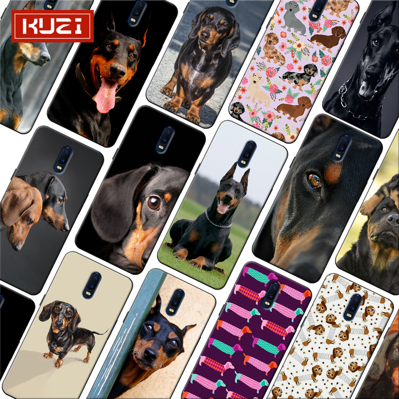 Dachshund Silhouette Dog Classic image paintings cute Soft Silicone Phone Case for font b oneplus b