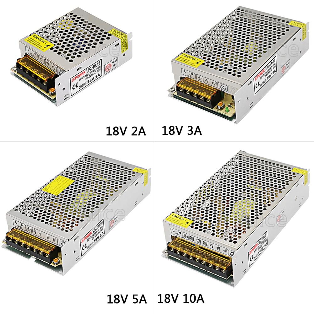 Regulated Switching Power Supply DC18V 2A/3A/5A/10A/20A Swich Driver Transformer AC110V 220V to DC 18v For LED Strip Light CNC 201w led switching power supply 85 265ac input 40a 16 5a 8 3a 4 2a for led strip light power suply 5v 12v output