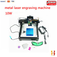 Hot sale 10000MW laser engraver for metals, 10W 14*20cm metal engraving cutting machine for iron, ceramic, aluminum