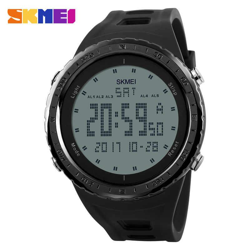 d783241275e9 SKMEI Chronograph Wrist Watch Men Big Dial Mens Sports Watches Digital  Countdown Double Time Wristwatch Military