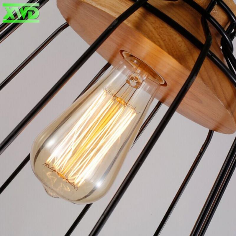 Lámpara colgante de interior de madera de hierro de la vendimia Bar - Iluminación interior - foto 4