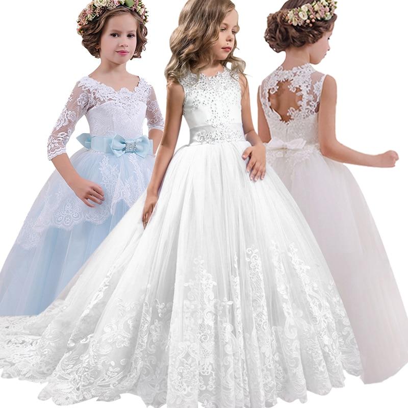 2019 Ball gown for   girl     flower     girl     dresses   vestido comunion pageant   dresses   for   girls   first communion evening fluffy   dresses