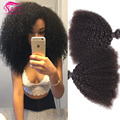 Mongolian Afro Kinky Curly Virgem Cabelo 3 Bundles Kinky Curly Virgem Do Cabelo 100% Cabelo Humano Tece Extensão Do Cabelo Virgem Mongol