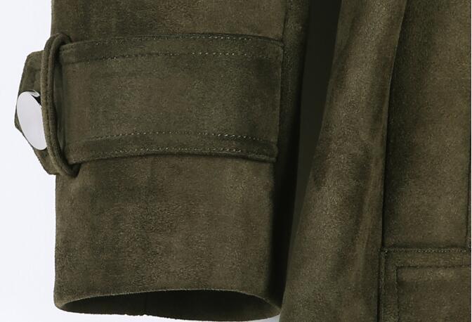 Daim Nouvelle Noir Double Revers Hiver 6xl De Personnalité S Veste ardoisé Hommes Taille Coupe vent army Mode Grande breasted Green Chaude MVLqUzpSG