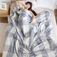 One Pcs New Plain Style Summer Quilt Double Queen Size Blanket 100% Cotton Blanket on the bed/Sofa/Air Condition Room