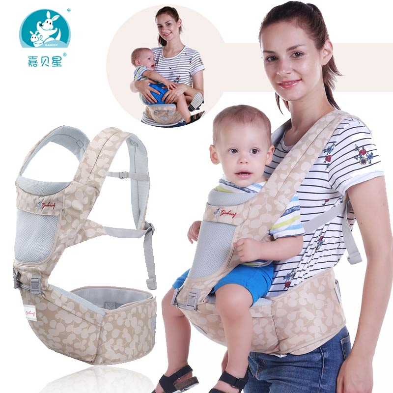 Gabesy Baby Carrier Ergonomic Backpack Hipseat Waist Stool 2 in 1 For Newborn And Prevent O-type Legs Sling Baby Kangaroos gabesy baby carrier ergonomic carrier backpack hipseat
