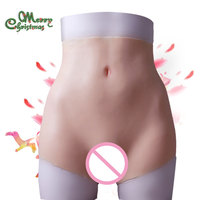 New increase hips boxer Silicone vagina for crossdresser Fake Ass Buttocks enhancer Shaper Hip Up for woman pussy underwear