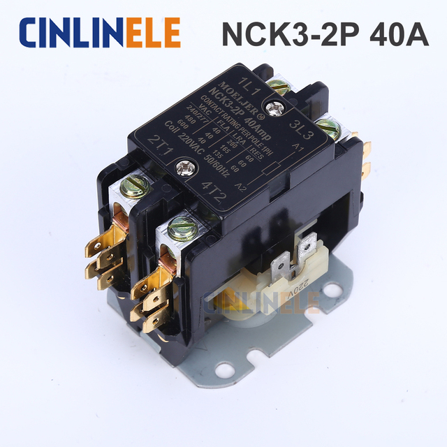 Free Shipping AC Contactor of Air Conditioning Parts Tool  2P 5000W  40A Air Conditioning Protector 110V 220V-250V