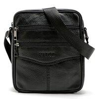 Vintage Men Shoulder Bag 100 Genuine Leather Messenger Bags Cowhide Men S Travel Bags Small Male