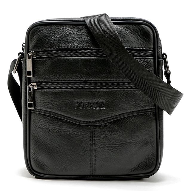 Vintage Men Shoulder Bag 100% Genuine Leather Messenger Bags Cowhide Men's  Travel Bags Small Male Crossbody Bag bolsas
