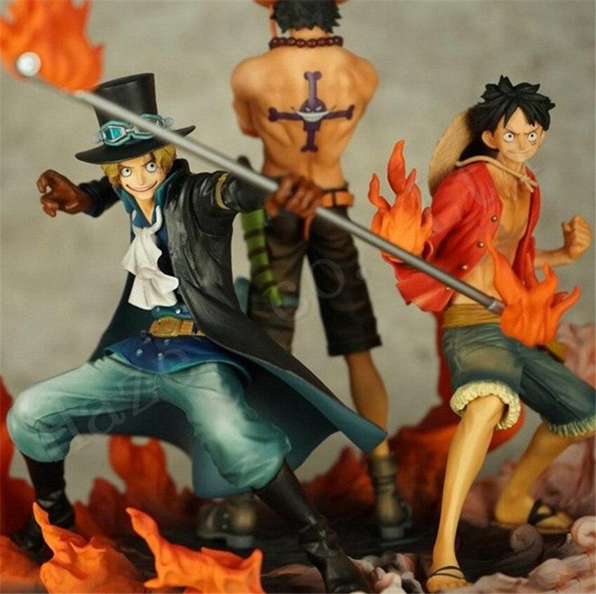 Creative 1Set One Piece Luffy PortgasD Ace Sabo New Box Figure Toys