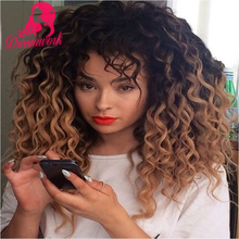 Wholesale 150% Density Ombre 1b/30 Human Hair Full Lace Deep Wave Wigs With Baby Hair Two Tone Color Curly Lace Front Wigs