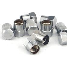 50 шт. хромированные латунные шлицевые колпачки клапана