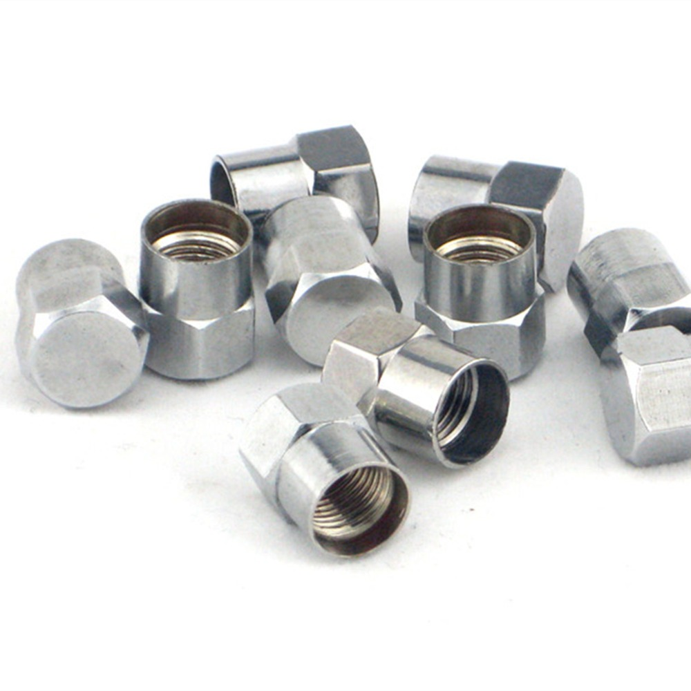 50pc Chrome brass Slotted Head Valve Stem Caps-in Tire Accessories from Automobiles & Motorcycles