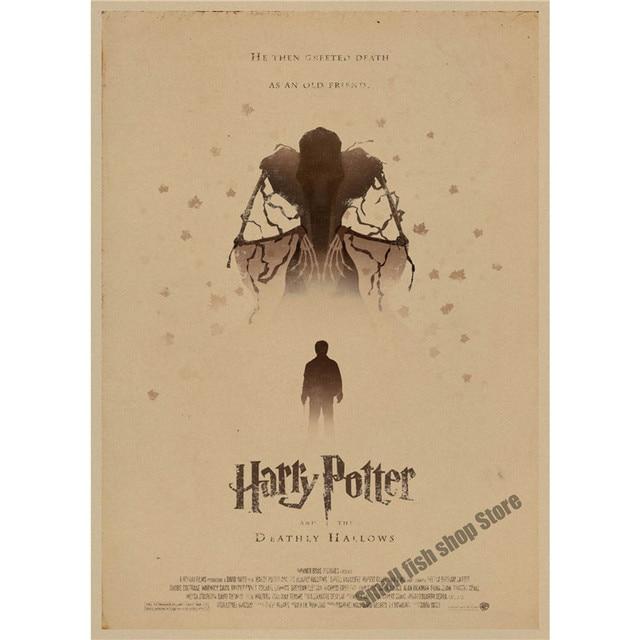 Harry Potter retro Cartel Retro de Papel Kraft Café Bar Pintura Decoración Del Hogar Etiqueta de La Pared