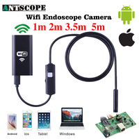 Iphone Endoscope HD 1m 2m 3 5m 5m Wireless Wifi Endoscope Camera 720P Borescope Waterproof 8mm