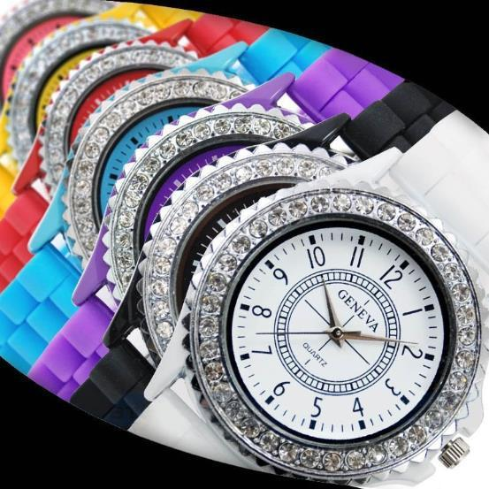 Free shipping / 2013 new popular retail and wholesale fashion luxury leisure 13 kinds of color Geneva watch