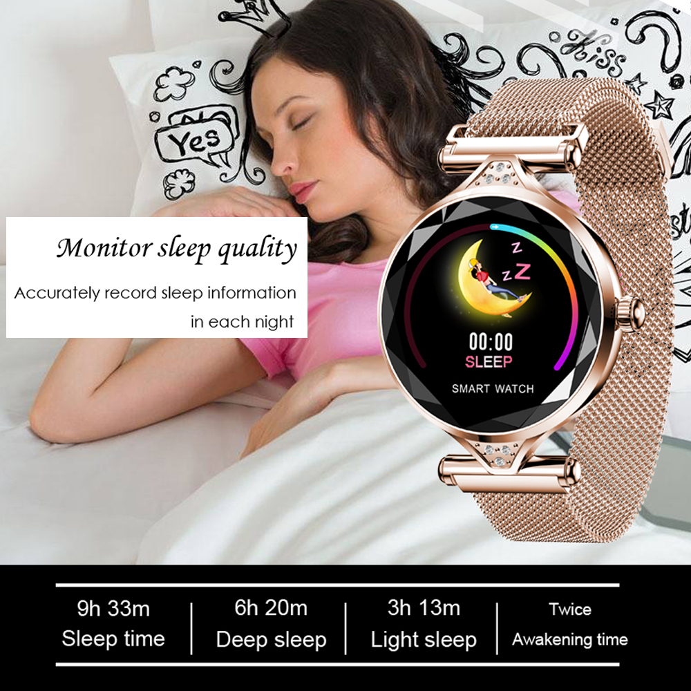H1 Women Smart Watch Heart Rate Blood Pressure Fitness Pedometer Female Smart Bracelet Sport Waterproof Lady Smartwatch in Smart Watches from Consumer Electronics