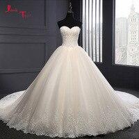 Jark Tozr Gelinlik נדל תמונת שמלת חתונת טורקיה 2018 תחרה עד בחזרה אפליקציות ואגלי נסיכת Abiti דה Sposa Robe De Mariee