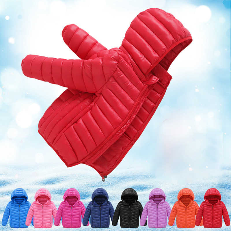 Children Jacket for Girls Boys Spring/fall Light Outerwear Parkas Teenage Winter Jacket for Boy Kids Down Cotton Coat 2-15 Years
