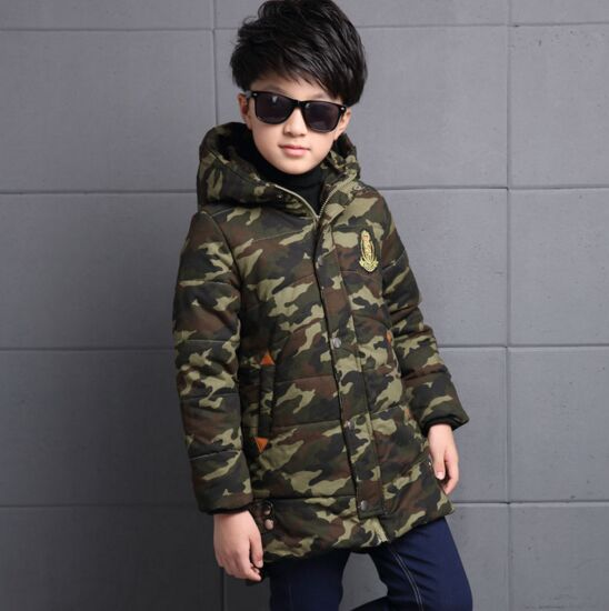 Fashion Camouflage Boys Winter Jackets Cotton-Padded Coats Waterproof Outerwear Thicken Warm Kids Parkas 5 7 9 11 13 15 Years womens winter jackets and coats 2016 warm hooded inner cotton padded parkas for women s winter jacket xxxl female manteau femme