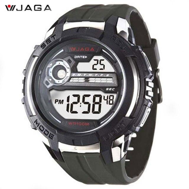 eab97ab823adf جاغا عالية الجودة ساعة رقمية للرجال للماء في الهواء الطلق الساعات الرجال الرياضة  الرقمية ساعات الكرونوغراف