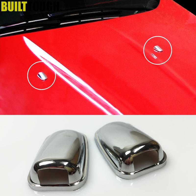 For Ford Focus MK3 Mondeo MK4 C-max MK2 Chrome Front Hood Bonnet Windscreen Washer Wiper Spray Nozzle Cover Trim Decoration