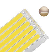 [ALLCOB] manufacture COB LED Light Lamp source 9V 12V DC 10W 6W 120x10mm 1000lm FLIP Chips for DIY Car light led tubes