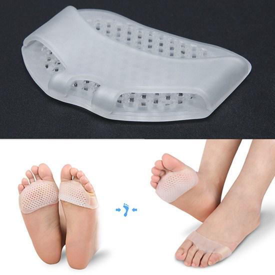 Orthopedic Foot Supplies 1 Pair Gel Forefoot Metatarsal Pads Silicone Half Yard Othotics Pain Relief Massage Anti-slip Cushion