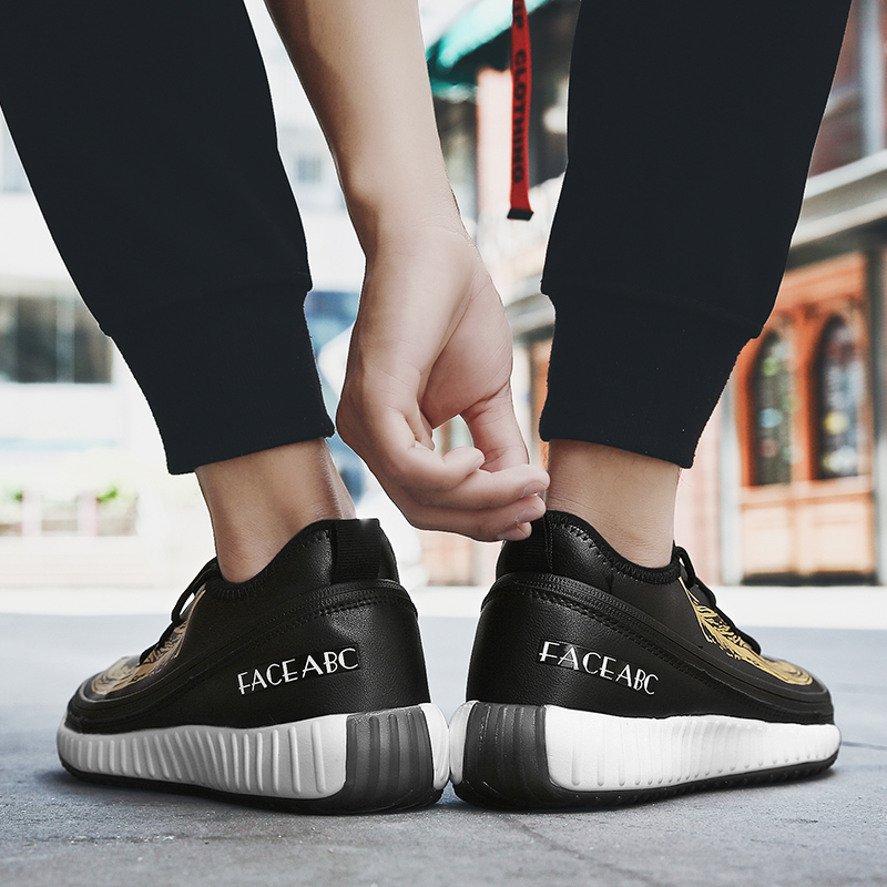 2019 nuevos zapatos de hombre 3 en 1 zapatos cambiados jóvenes fiesta Casual pisos estudiantes moda Flykint malla zapatos de negocios para adultos - 4