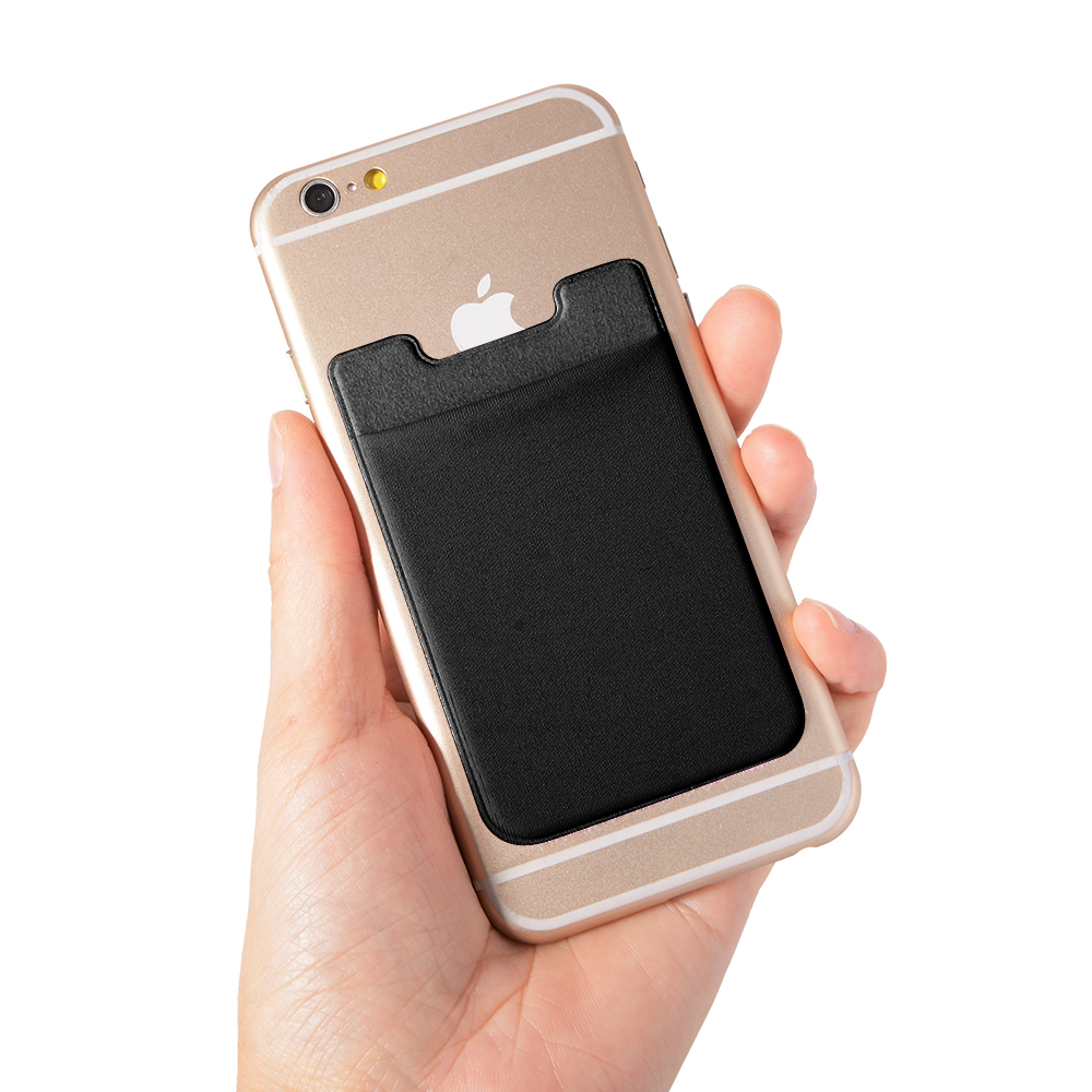 brand new 99819 40e07 US $2.09 |2pcs Elastic Lycra Cell Phone Wallet Case Credit ID Card Holder  Pocket Stick On 3M Adhesive Black AC418+ -in Card & ID Holders from Luggage  ...