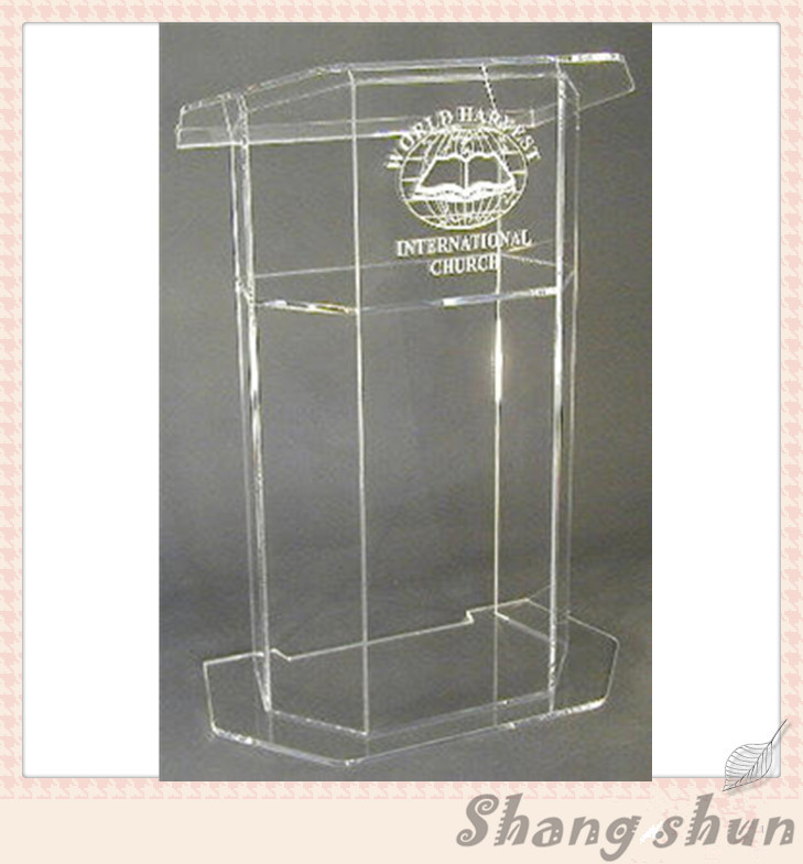 Acrylic Lectern/Lucite Chruch Podium/Transparent Pmma Pulpit Clear Lectern Clear Church Podium hot sale fre shiping customized acrylic church lectern pulpit lectern podium cheap church podium